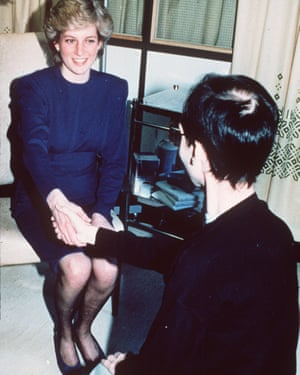 Princess Diana shakes hands with an Aids patient in 1987