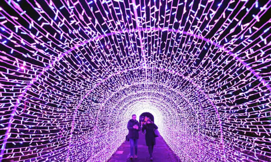 Tunnel of light: Edinburgh Zoo's Christmas Nights is on until 3 January.