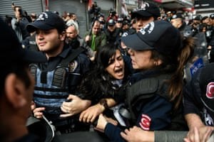 Istanbul, Turkey  Riot police clash with protesters