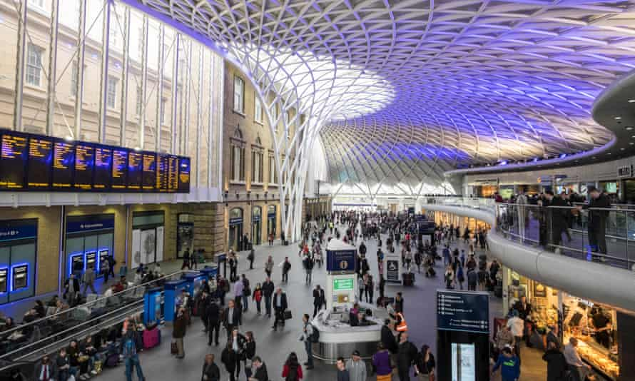 The new concourse at King's Cross station, London.
