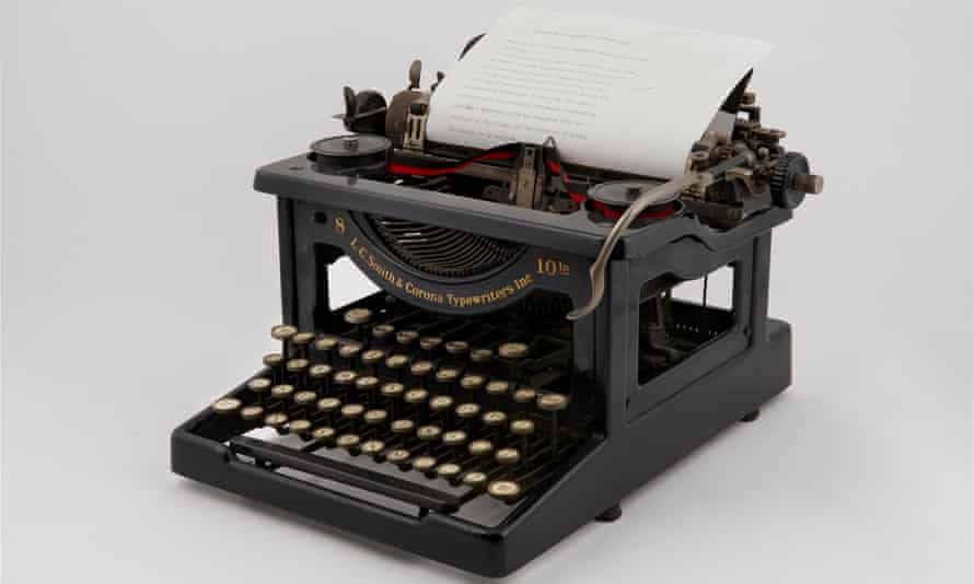 A typewriter inspired Michael Gustafson to write.