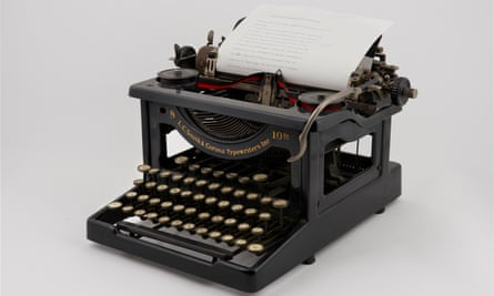 A typewriter inspired Michael Gustafson to write.
