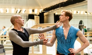 Conveying the erotic moment … Javier de Frutos rehearses with Edward Watson.