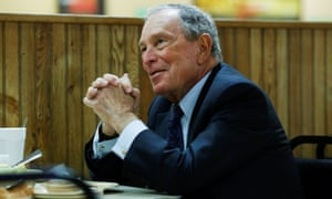 Michael Bloomberg speaking in Arkansas after adding his name to the state's Democratic primary ballot.
