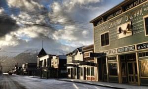Downtown Skagway, Alaska, in a photo taken by the mayor.