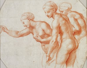 The passionate reality … Study for the Three Graces, circa 1517–18, Raphael.