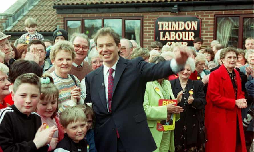 Tony Blair after being formally adopted by his Sedgefield constituency.