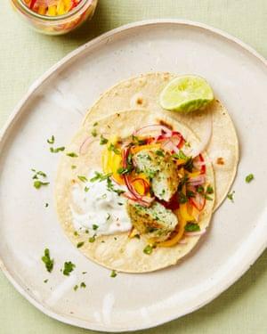Yotam Ottolenghi's fish tacos