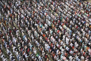 Bangladeshis offer funeral prayer for Awami League leader Sheikh Fazlul Karim Selim's grandson Zayan Chowdhury, who was killed in one of Easter Sunday blasts.