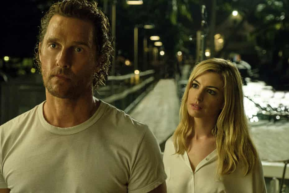 Matthew McConaughey and Anne Hathaway in Serenity.