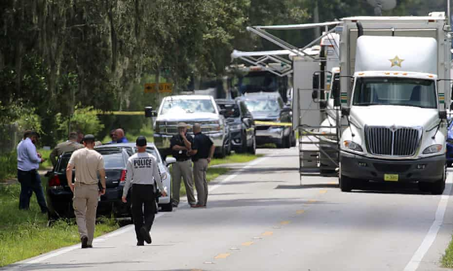 The scene of the shootings in Lakeland, Florida
