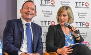 Tony Abbott and Zali Steggall