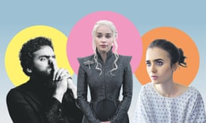 The Mash Report's Nish Kumar; Emilia Clarke in Game of Thrones; and Lily Collins in To the Bone
