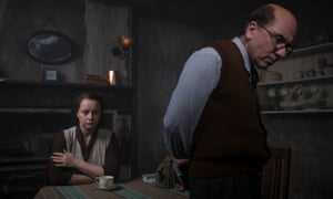 Black misery from one man's evil ... Tim Roth as Reg Christie and Samantha Morton as Ethel in Rillington Place.