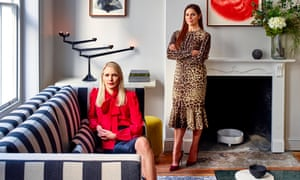 Anna Jones (left red top) and Deborah Wosskow (right leopard print dress) at the Allbright club