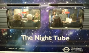 people on tube train