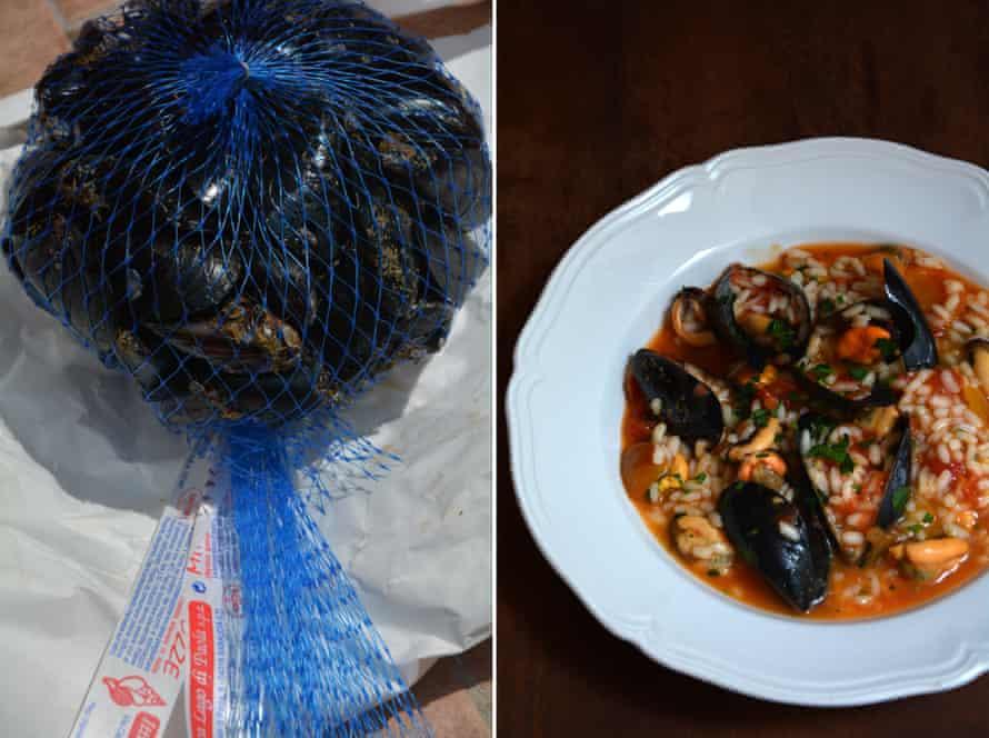 Rachel Roddy's Puglian rice and mussels.