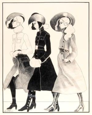 Long 1960s coats