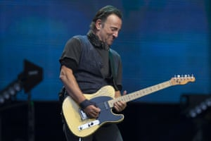 Bruce Springsteen performs in Manchester
