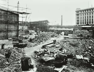 Construction work for the Festival of Britain