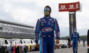Bubba Wallace at Pocono Raceway Saturday in Pennsylvania.