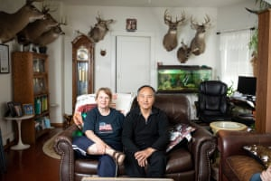 A portrait of Eileen Thao and Nou Vang Thao at their home in Wausau.