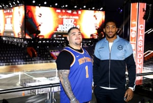 Anthony Joshua and Andy Ruiz Jr inside the Diriyah Arena, the stadium purpose-built for the fight