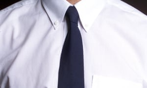 Shirt and black tie (or blue tie)