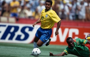 Romário in action for Brazil at the 1994 World Cup.