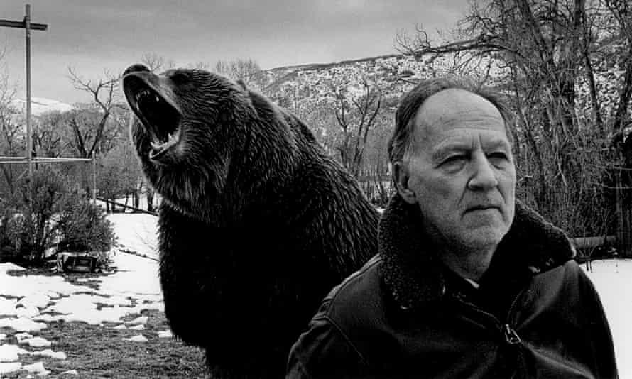Werner Herzog and friend in Grizzly Man.