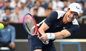 Andy Murray plays a shot during his first-round defeat to Roberto Bautista Agut at the Australian Open, his last competitive appearance before undergoing hip surgery.