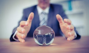 Businessman with a crystal ball