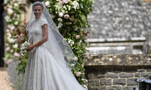 Pippa Middleton arrives for her wedding to James Matthews at St Mark's church in Englefield.