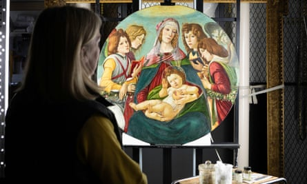 English Heritage's Rachel Turnbull views the Madonna of the Pomegranate painting