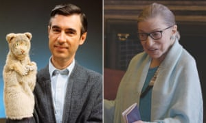 Fred Rogers and Ruth Bader Ginsburg.