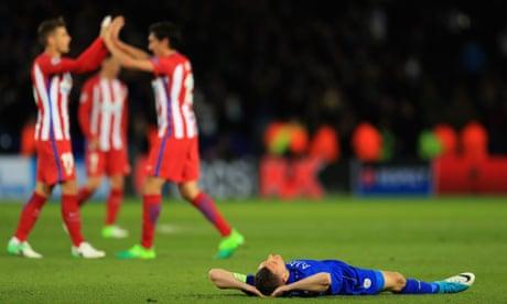 Saúl Ñíguez gives Atlético Madrid the edge and valiant Leicester fall just short