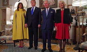 Melania, Donald, Charles and Camilla.