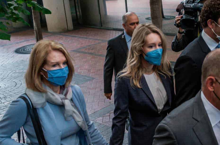 Elizabeth Holmes, the founder and former CEO of Theranos, arrives in court.