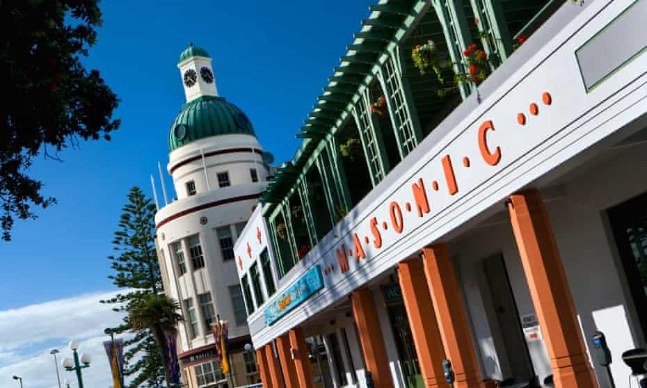 Napier's clock tower and Masonic Hotel.