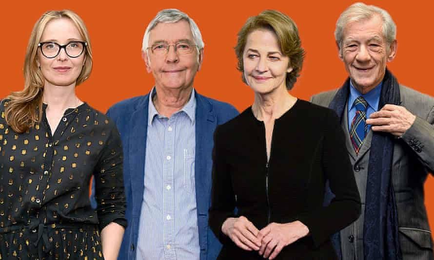 All weighing in … Julie Delpy, Tom Courtenay, Charlotte Rampling and Ian McKellen