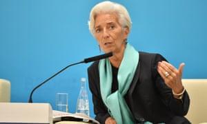 Christine Lagarde, managing director of the IMF