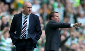 Rangers manager, Mark Warburton, left, and his Celtic counterpart, Brendan Rodgers