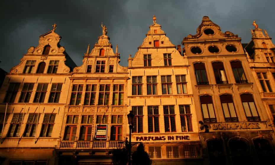 Antwerp, Belgium 38 - Guild houses in the 'old town' of Antwerp