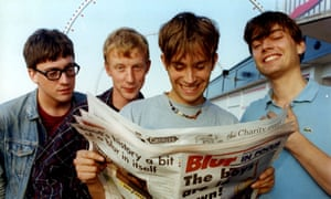 Blur in Grimsby in 1995, two years before the release of their self-titled fifth album.