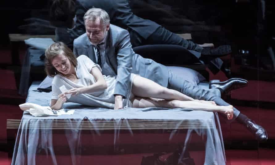Seclusion … Suzanne Aubert as Agnès and Claude Duparfait as Arnolphe in L'École des femmes, directed by Stéphane Braunschweig.