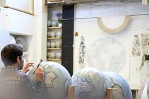 Fine details work on a range of globes.