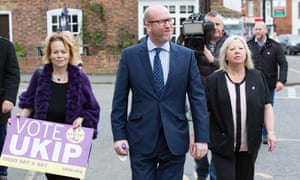 Paul Nuttall on the campaign trail in Burgh le Marsh, Lincolnshire.