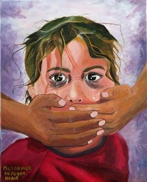 No Voice, by Masoumeh Jafari, from Afganistan