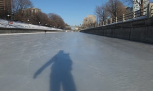 An icy journey to work along the Rideau Canal Skateway in Ottawa, Canada.