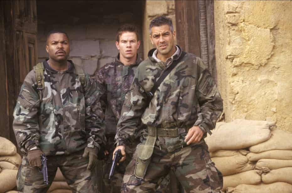 Ice Cube, Mark Wahlberg and George Clooney in Three Kings.